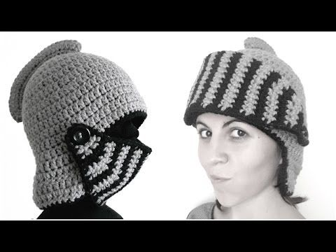 How to crochet Gladiator Knight in Shining Armor Hat - YouTube ... 20c75a23b19