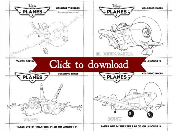 Disneys planes coloring pages collage roll up, tie with ribbon, place in cups with crayons.