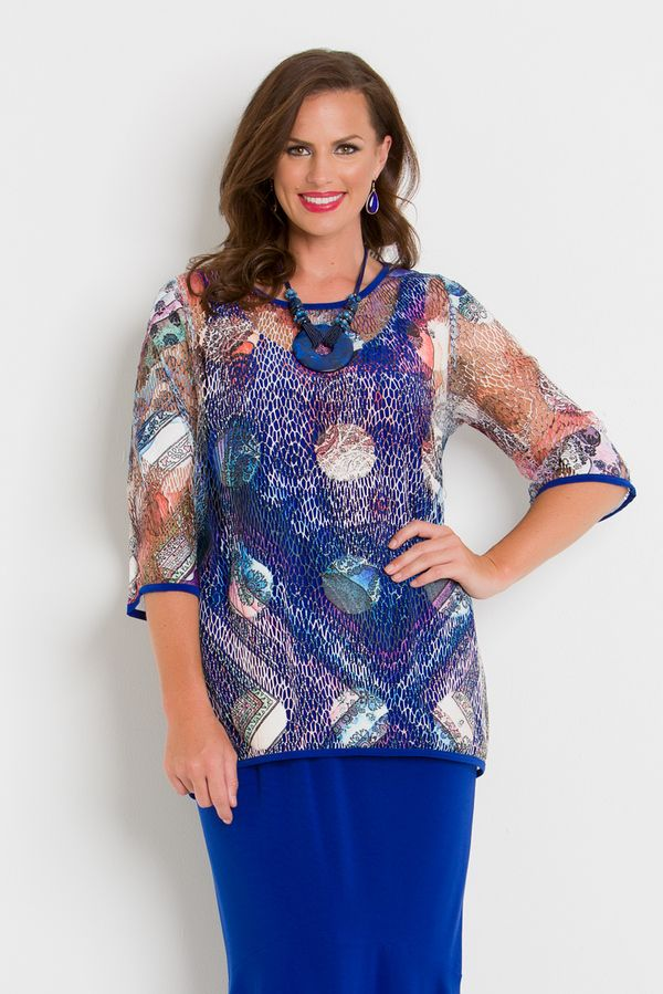 d159ac8f2d3 7033 Medallion Top - Colourful sheer tulle top
