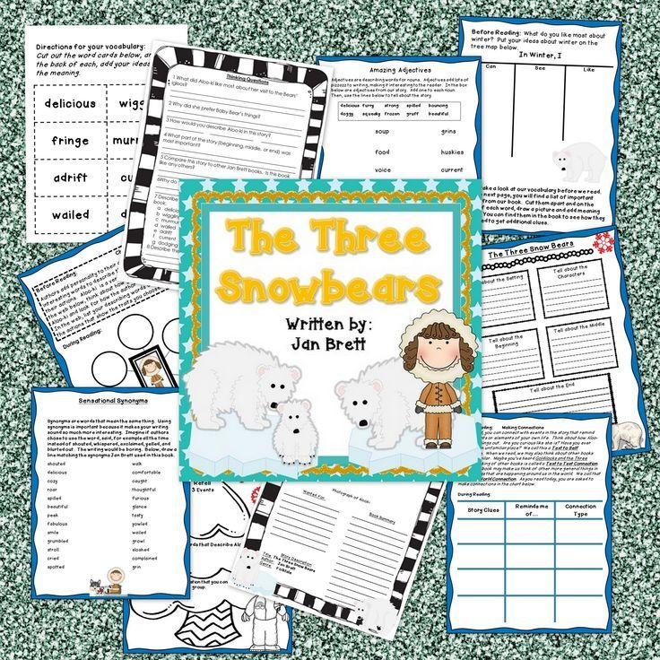 The Three Snow Bears Book Companion In Pdf And Digital Formats Snow Bear Drawing Book Pdf Childrens Books Activities
