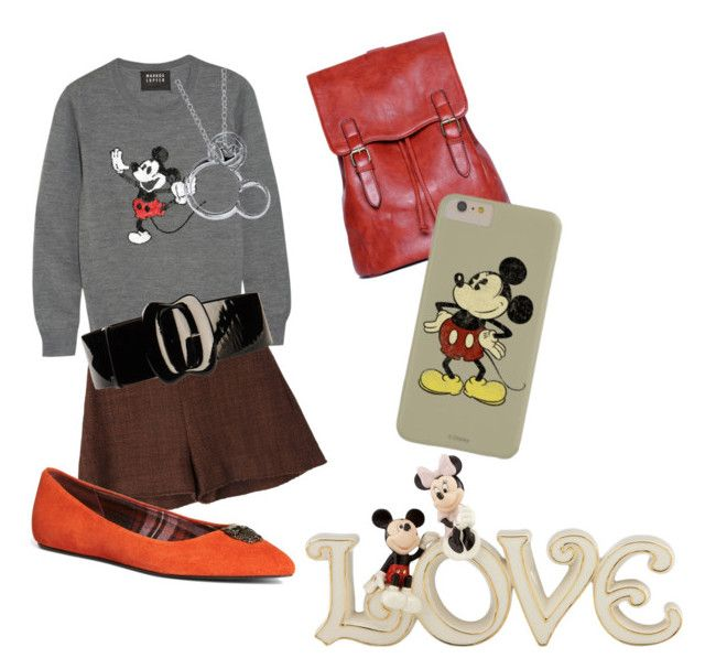 """""""Mickey Style"""" by bromaxx ❤ liked on Polyvore featuring Markus Lupfer, Marni, Brooks Brothers, Fabrizio Mancini, Disney and Lenox"""