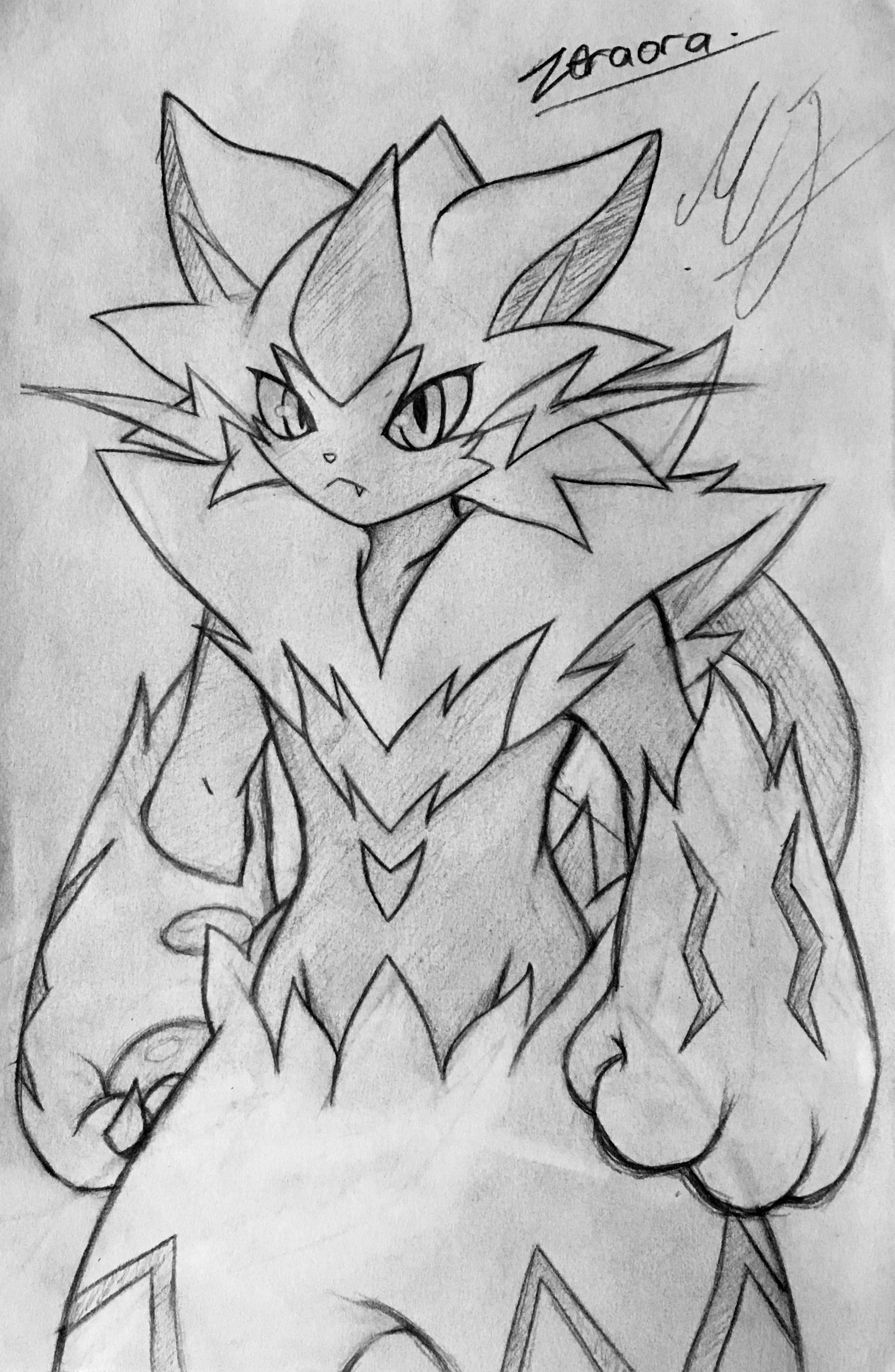Zeraora Pokemon Art Pokemon Fan Art Pokemon Game Characters