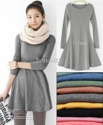 Long dress long sleeve casual dresses