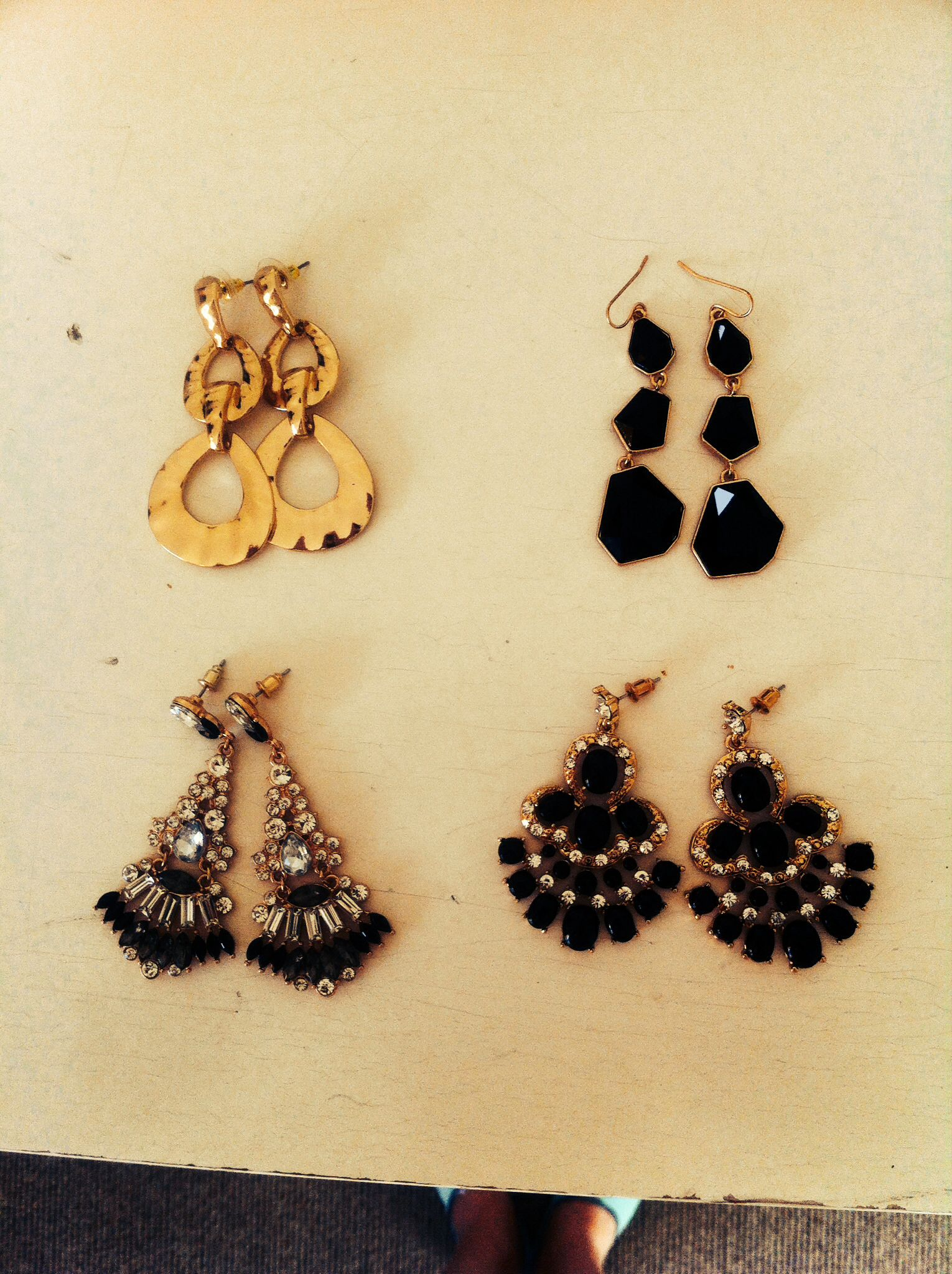Gold earrings#change your look#by Colette