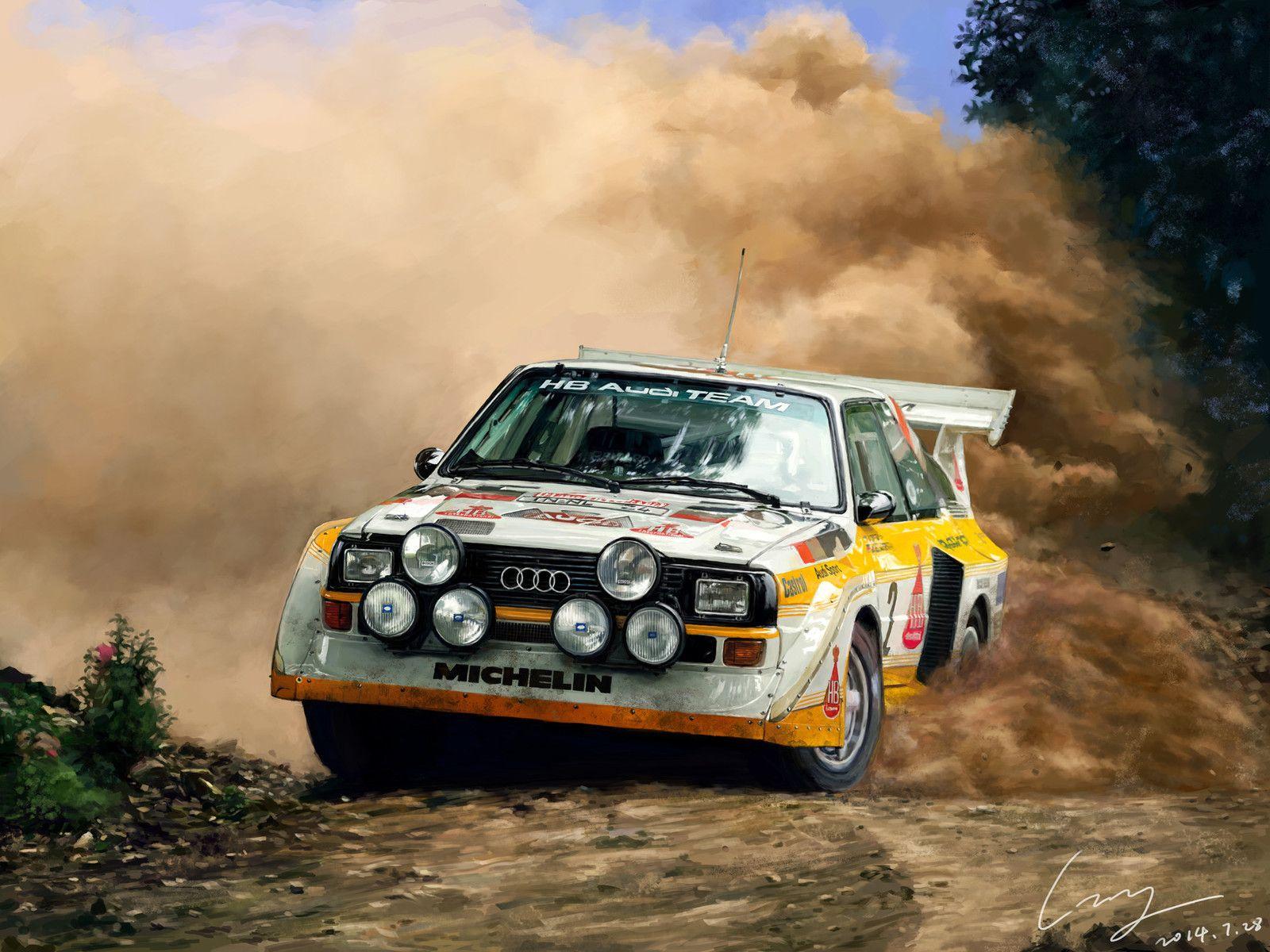 Audi Sport Quattro S1 Zhiyong Li Rally Car Audi Sport Audi