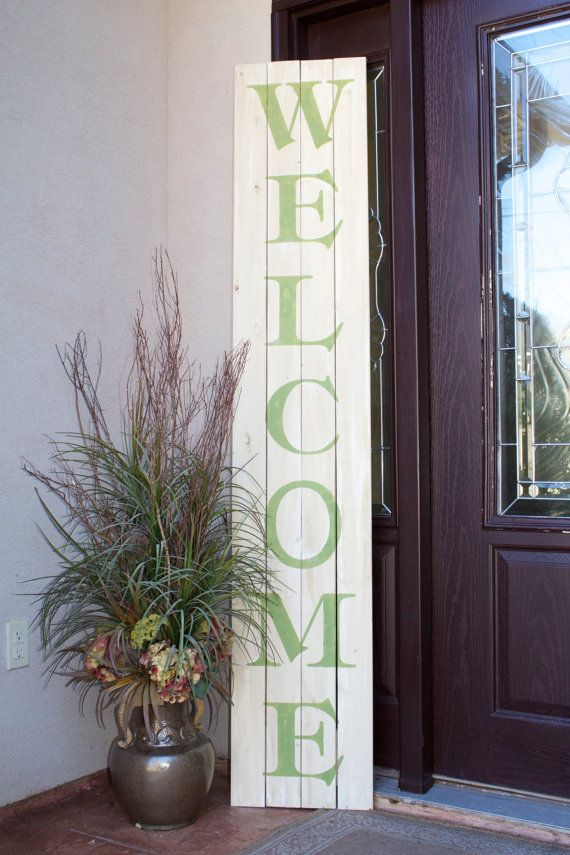 Welcome The Dimensions For This Front Door Sign Are 13 75