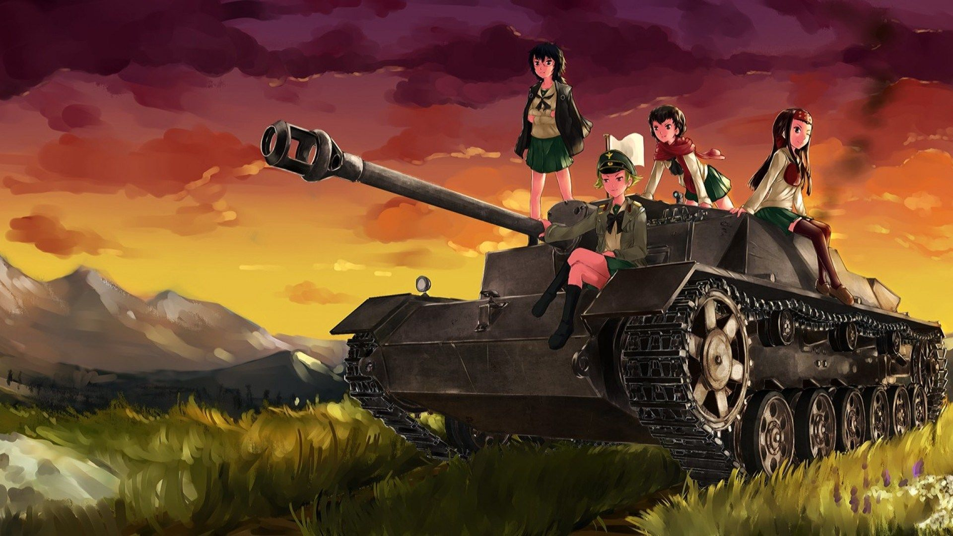 Desktop Wallpaper For Girls Und Panzer Worden Wilkinson 2017 03 23 Tank Wallpaper Background Images Girl Wallpaper