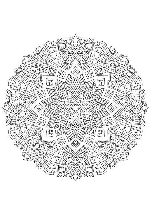 60 mandala coloring pages | Kaleidomania: Printable Adult Coloring ...