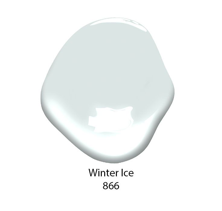 Winter Ice 866 Paint Color From Benjamin Moore Is A White That Offers Subtle Hint Of Blue Gray