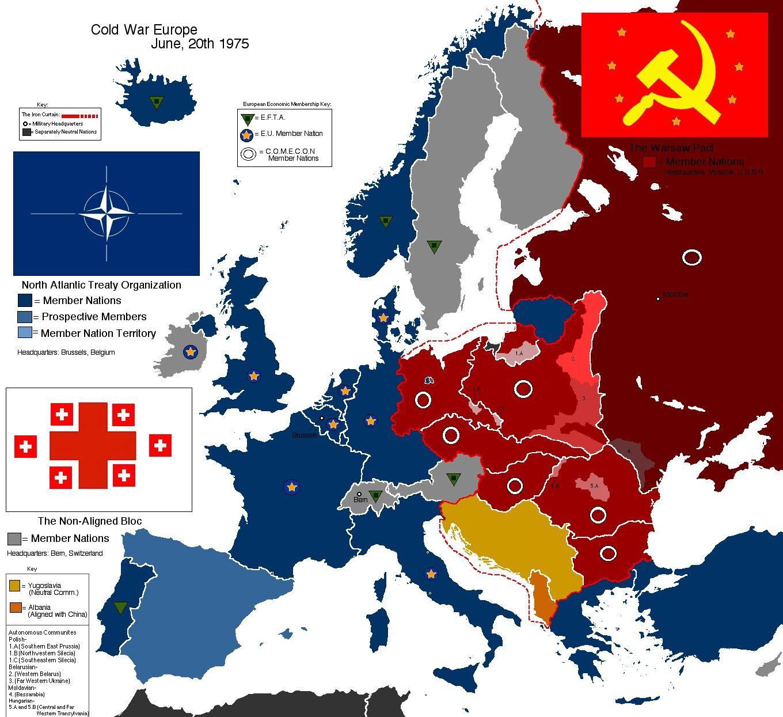 Cold War 1975 Mapa Mapas Historicos Guerras Mundiais