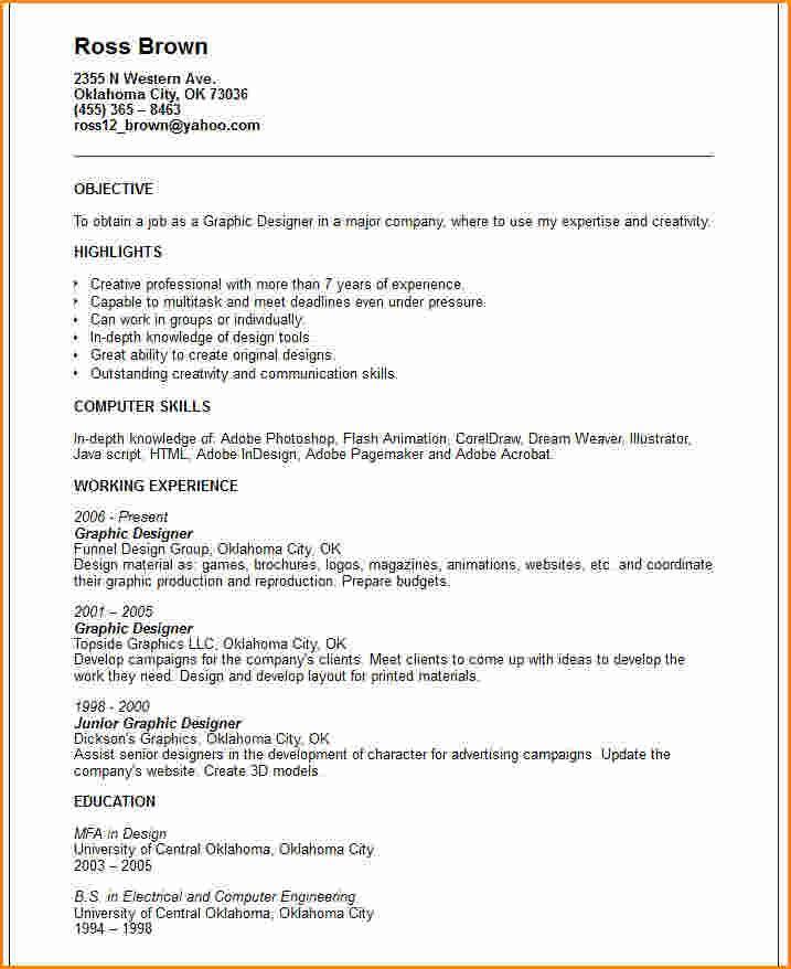 graphic design resume example new grads designer sample amp - innovative resume formats