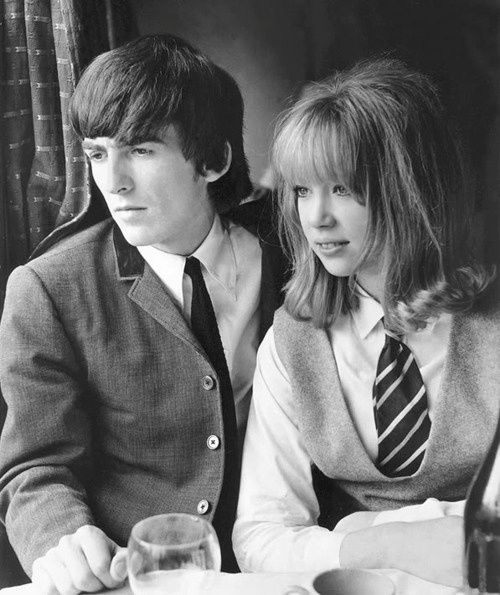 George Harrison First Met Pattie Boyd A 19 Yr Old Teen Model During The Filming Of Beatles Movie Hard Days Night In 1964
