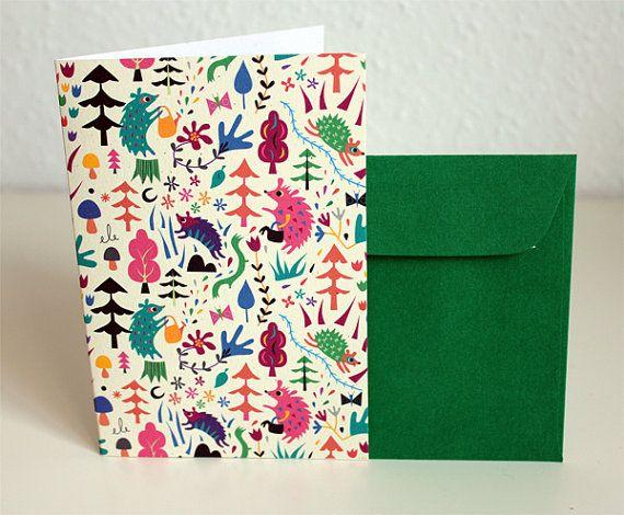 Handmade Hedgehogs Card / Carte Hérissons