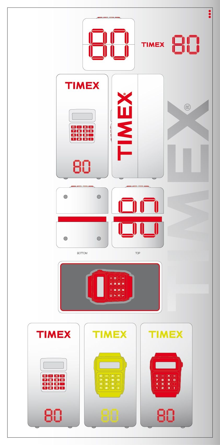 concept packaging TIMEX 80