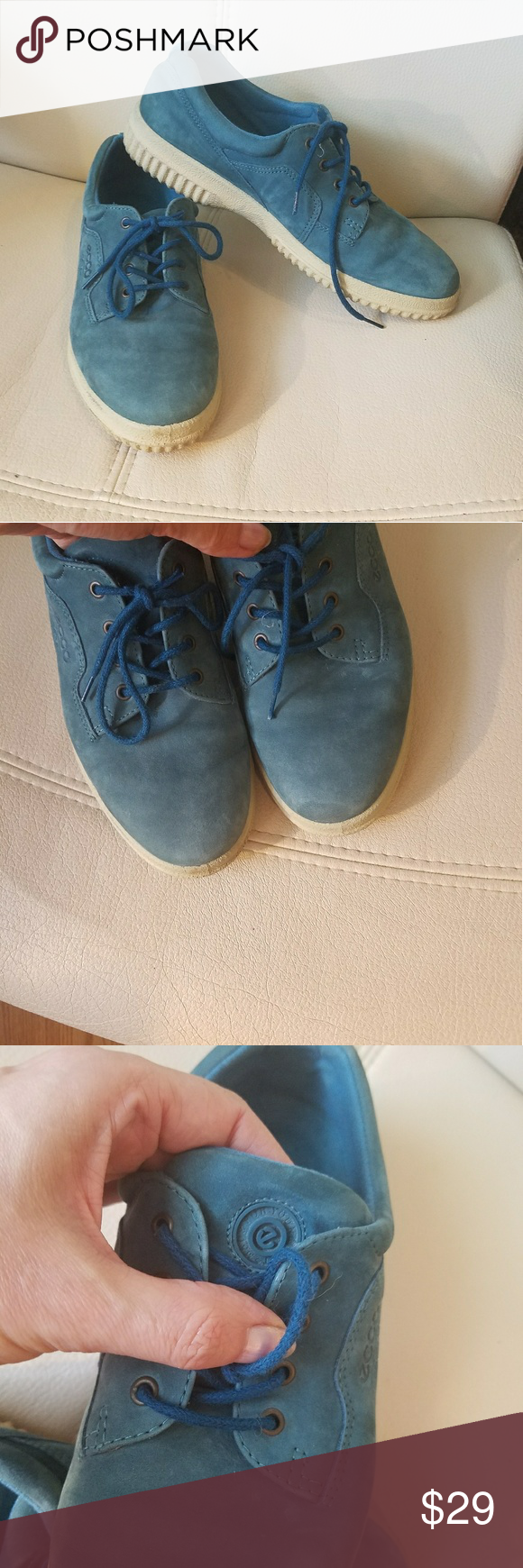 95059c0c594ad Ecco soft shoes size 38 In great Pre owned condition Genuine suede ...