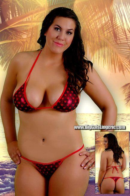 Models bikini Plus thong size