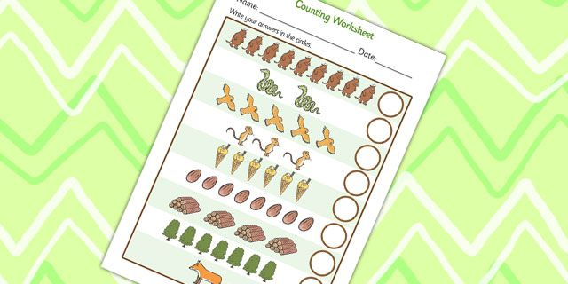 Twinkl Resources The Gruffalo Counting Sheet Printable