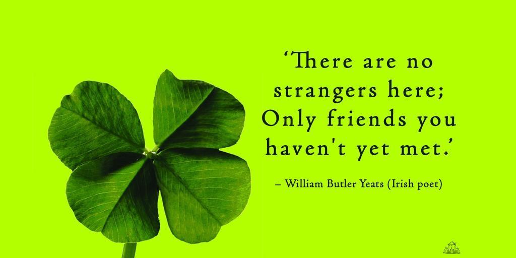 Happy #StPatricks Day. Here's a #QuoteoftheDay from #Irish #poet William Butler Yeats.