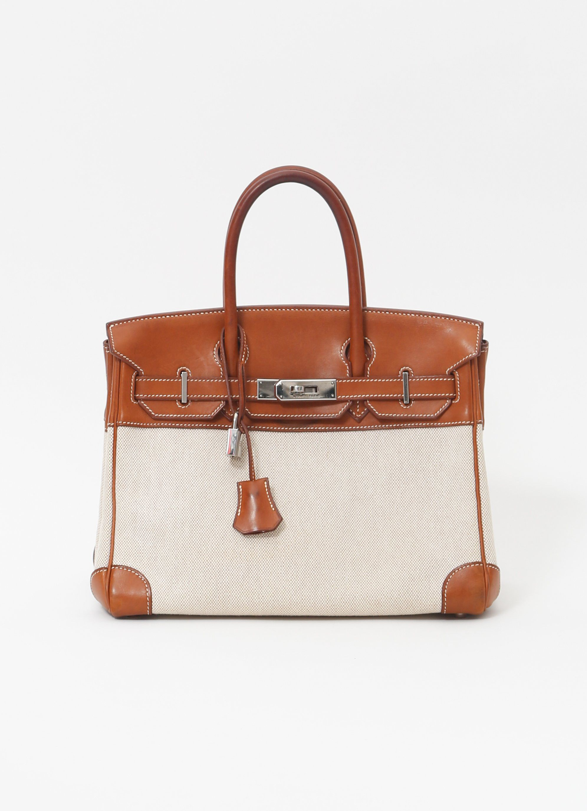 9c8709a3f1b0 Barenia and Canvas Birkin, 30cm in 2019     Re-SEE Iconic Bags ...