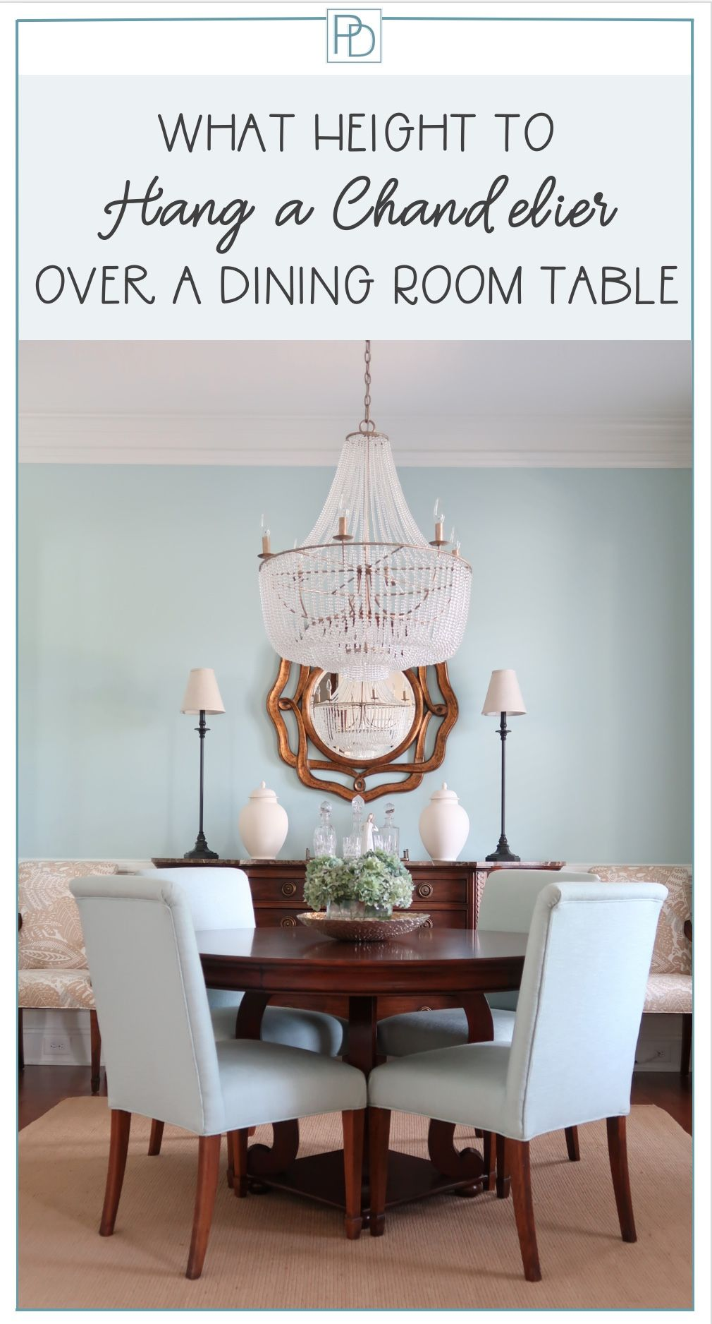 Looking For How High You Should Hang Your Chandelier Over Your Dining Table Here Is A Simple Guide French Country Dining Room Dining Room Blue Country Dining Rooms