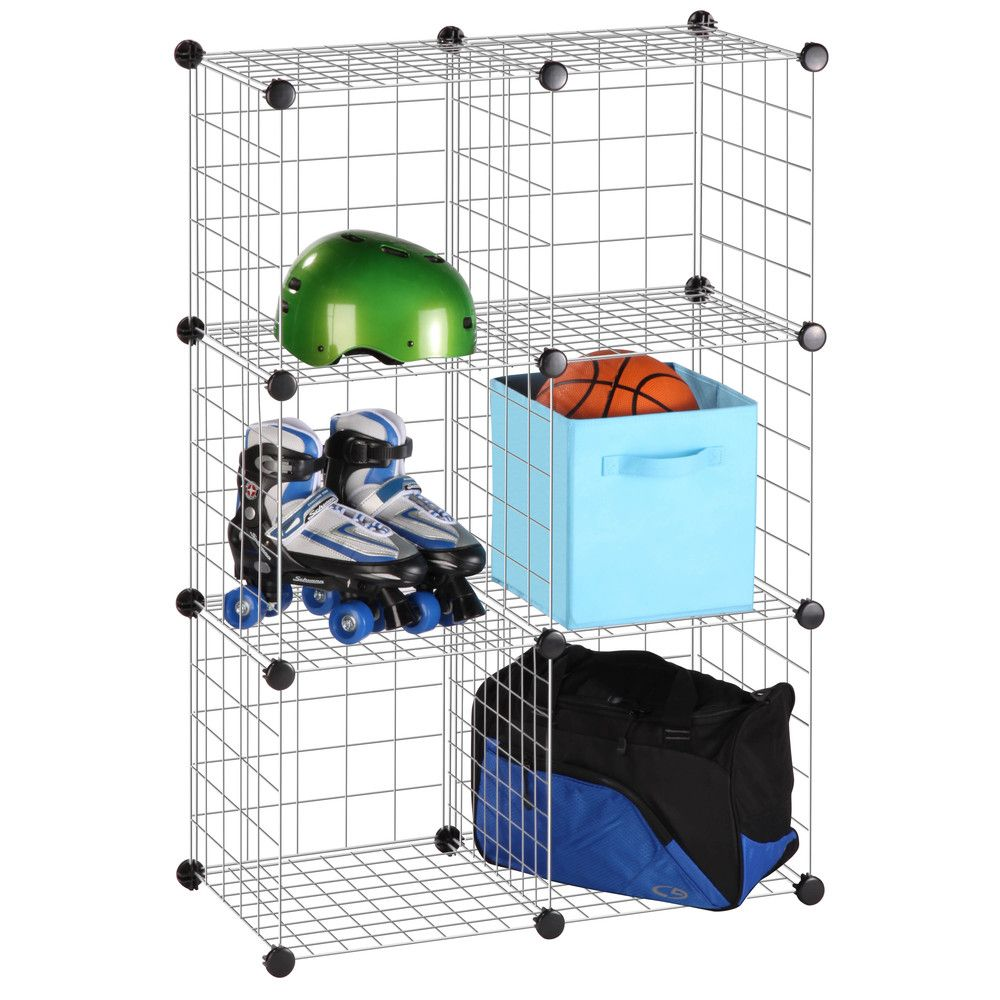 Honey Can Do 6 Pack Modular Mesh Storage Silver Cube (6 Pack ...