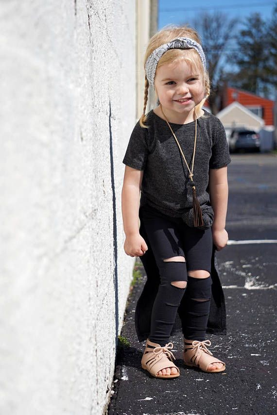 dd784c926d228 Girls Ripped Black Leggings // Toddler Girl Leggings // Baby Girl  Distressed Leggings // 90's grunge inspired pants // Toddler Gift