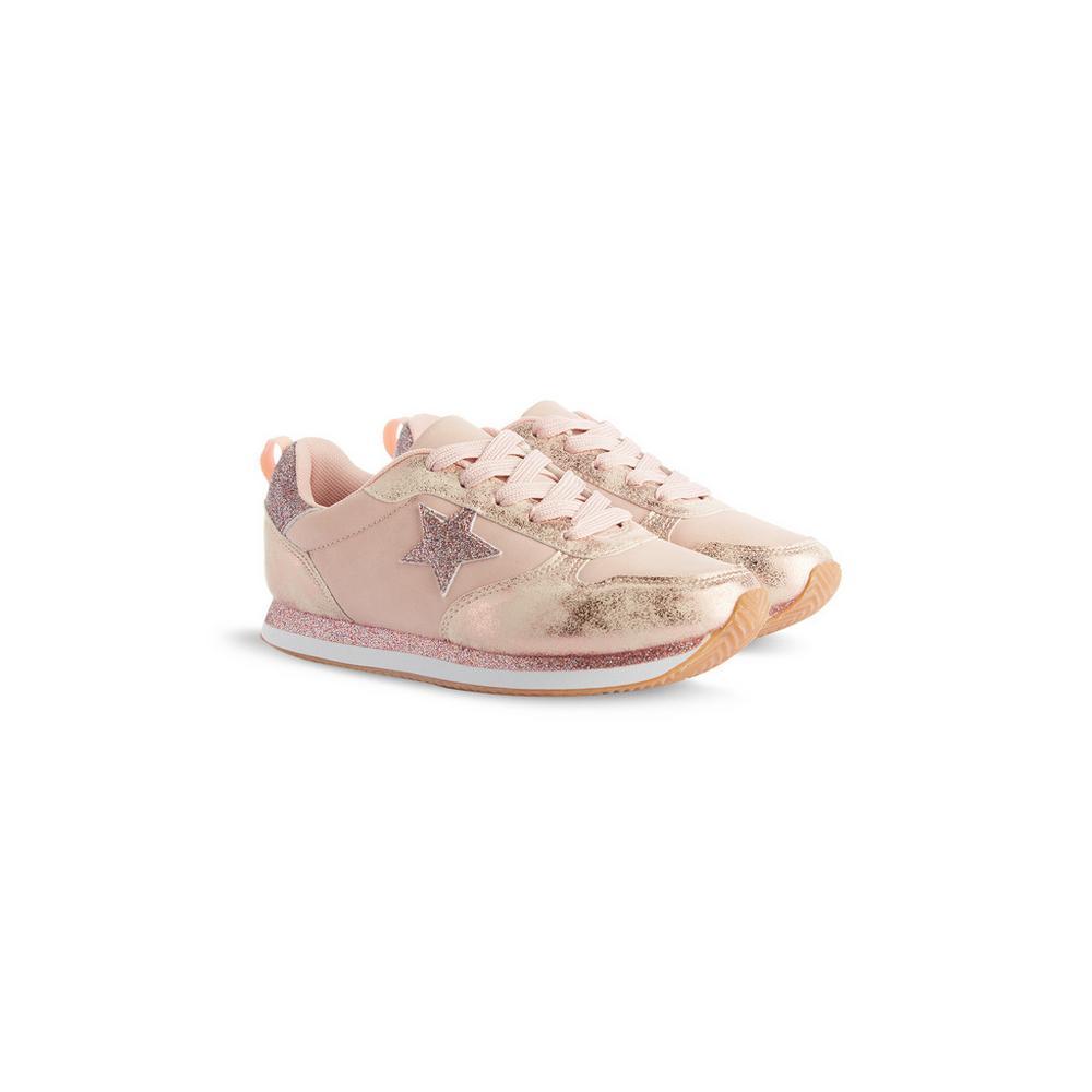 Pink Glitter Star Trainer | Girls Shoes