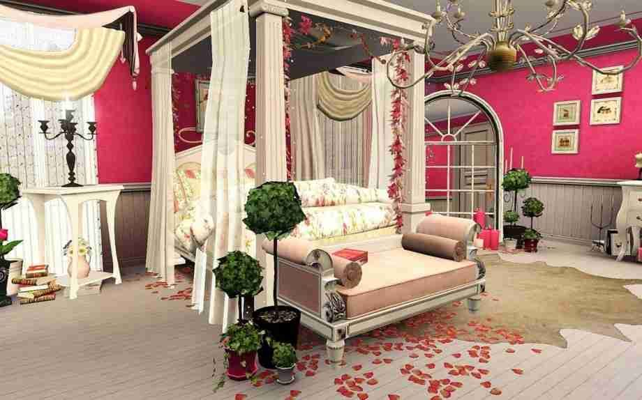 House Interior Design Romantic Bedroom Valentines Day House Interior