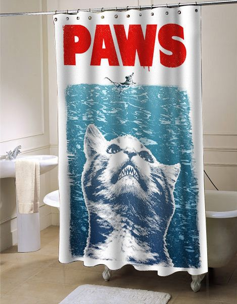 Crazy Cat Meow Paws Jaws Shower Curtain Customized Design For Home Decor Cool Shower Curtains Shower Curtain