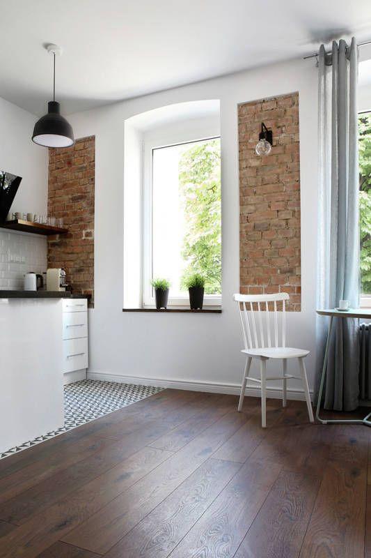 Kacik Jadalniany Z Ceglana Sciana Dream House Decor House Interior My Home Design
