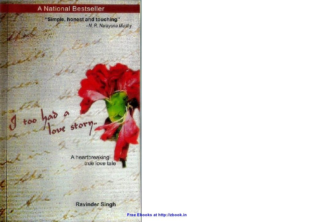 I Too Had A Love Story Ravinder Singh Zbookin 13134457 By