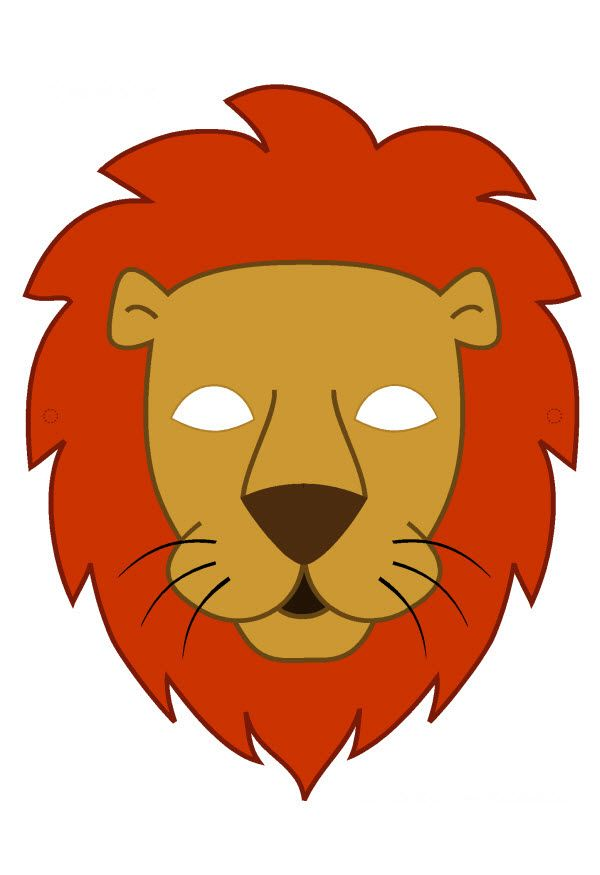 pdf masque de lion en couleur - Masque Lion
