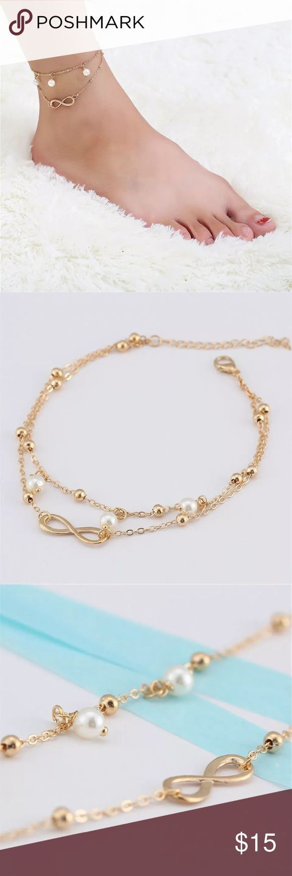 women bracelet of xs lyst sweetie vermeil london links in anklet s gold metallic jewelry