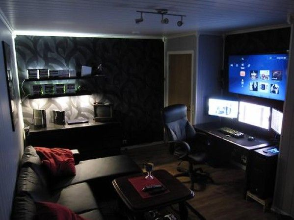 50 Masculine Man Cave Ideas Photo Design Guide Next Luxury Game Room Design Room Setup Gaming Room Setup