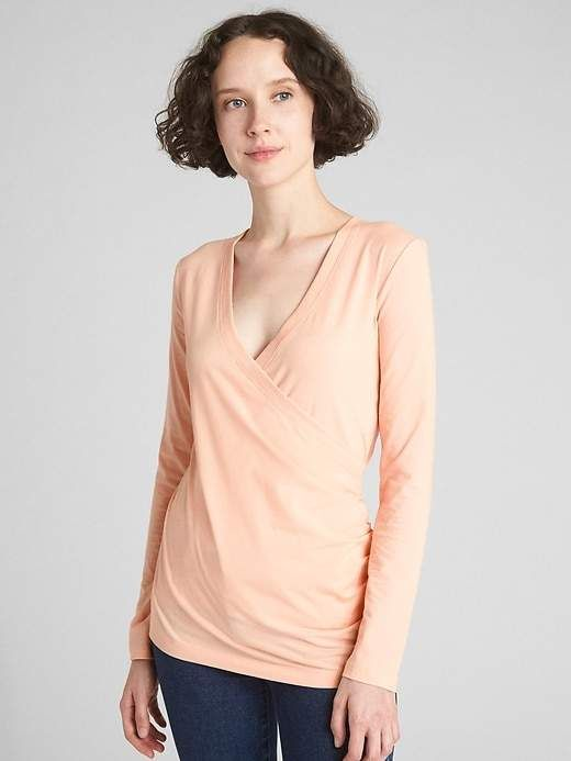 ce2281b8f9da6 Maternity Crossover Nursing Top | Products | Nursing tops, Tops ...