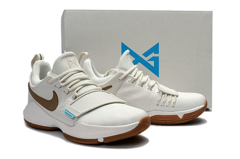 7f57c007c3c Free Shipping Only 69  New Young Nike PG 1 Ivory Oatmeal Gum Light Brown  Vivid Sky Big Boys Basketball Shoes