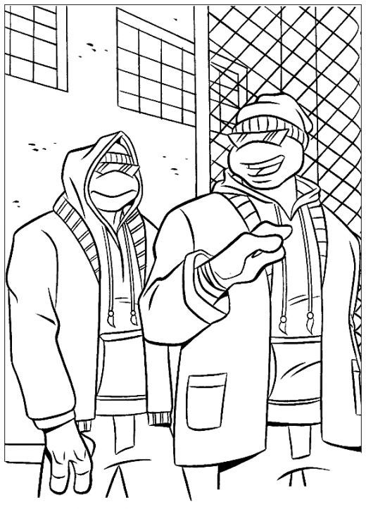 Teenage Mutant Ninja Turtles Kids Coloring Pages and Free Colouring ...
