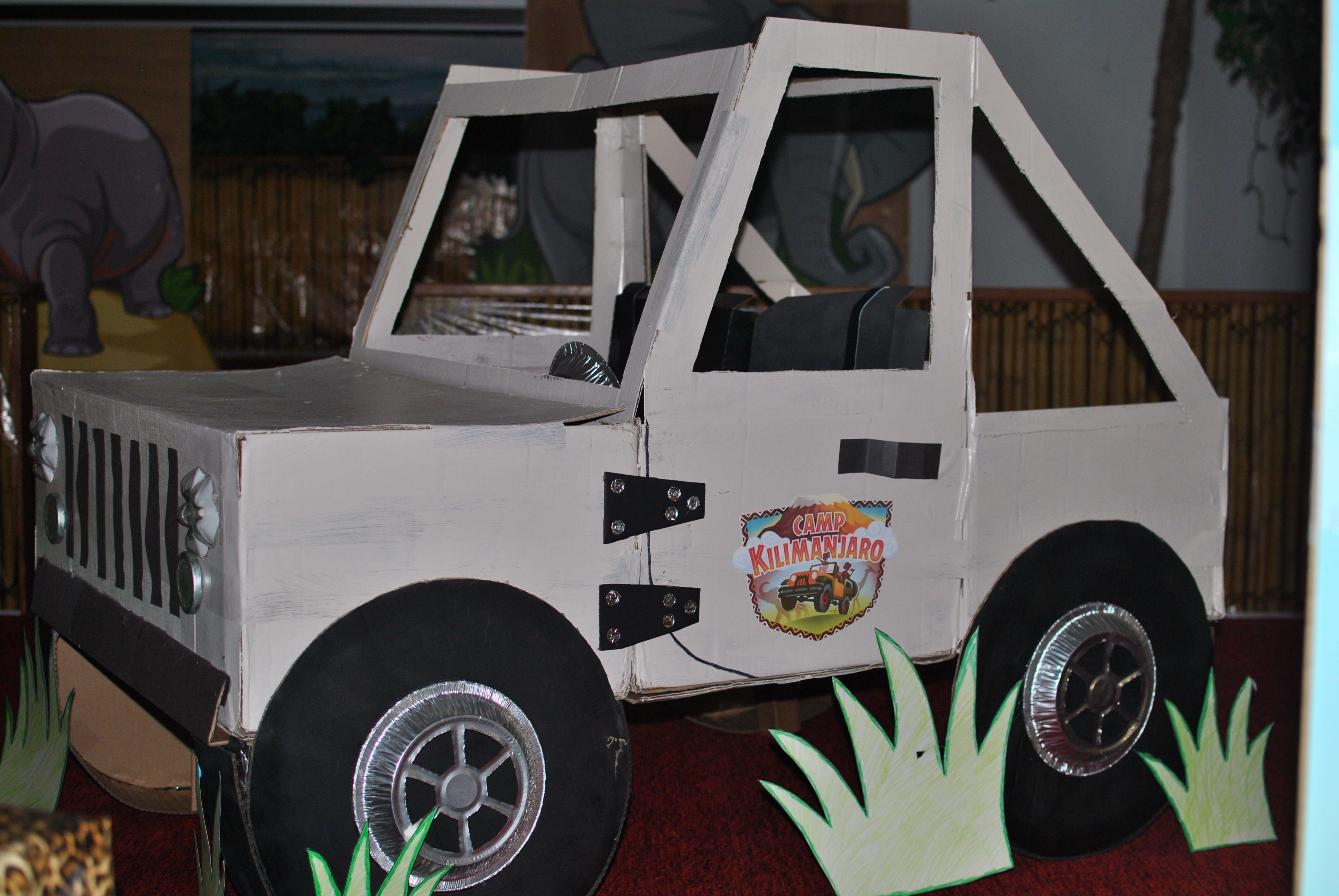 Camp Kilimanjaro Jeep Vbs 2015 Kids Jeep Cardboard