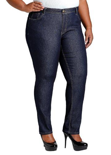 Ashley Stewart Women's Plus Size Petite Skinny Five Pocket Denim ...