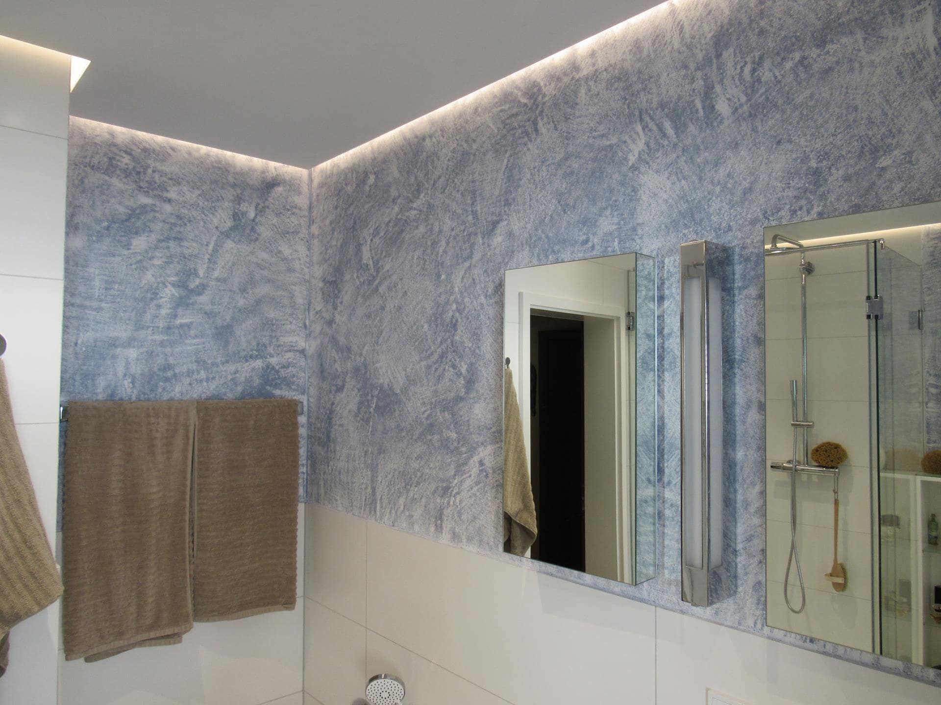 Sumpfkalkputz Im Bad Nach Kundenwunsch Gestaltet Gestalten Putz Badezimmer