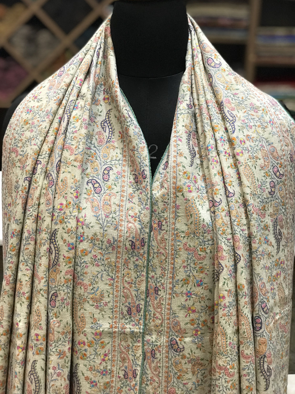 Women/'s Pashmina Wool Scarf Shawl The Garden After Rain