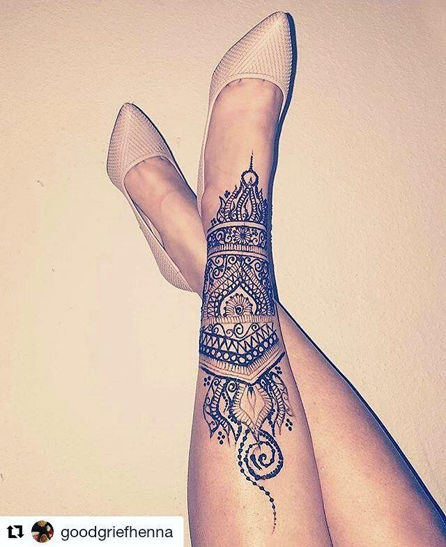 Leg Henna Tattoos Henna Leg Henna Henna Designs