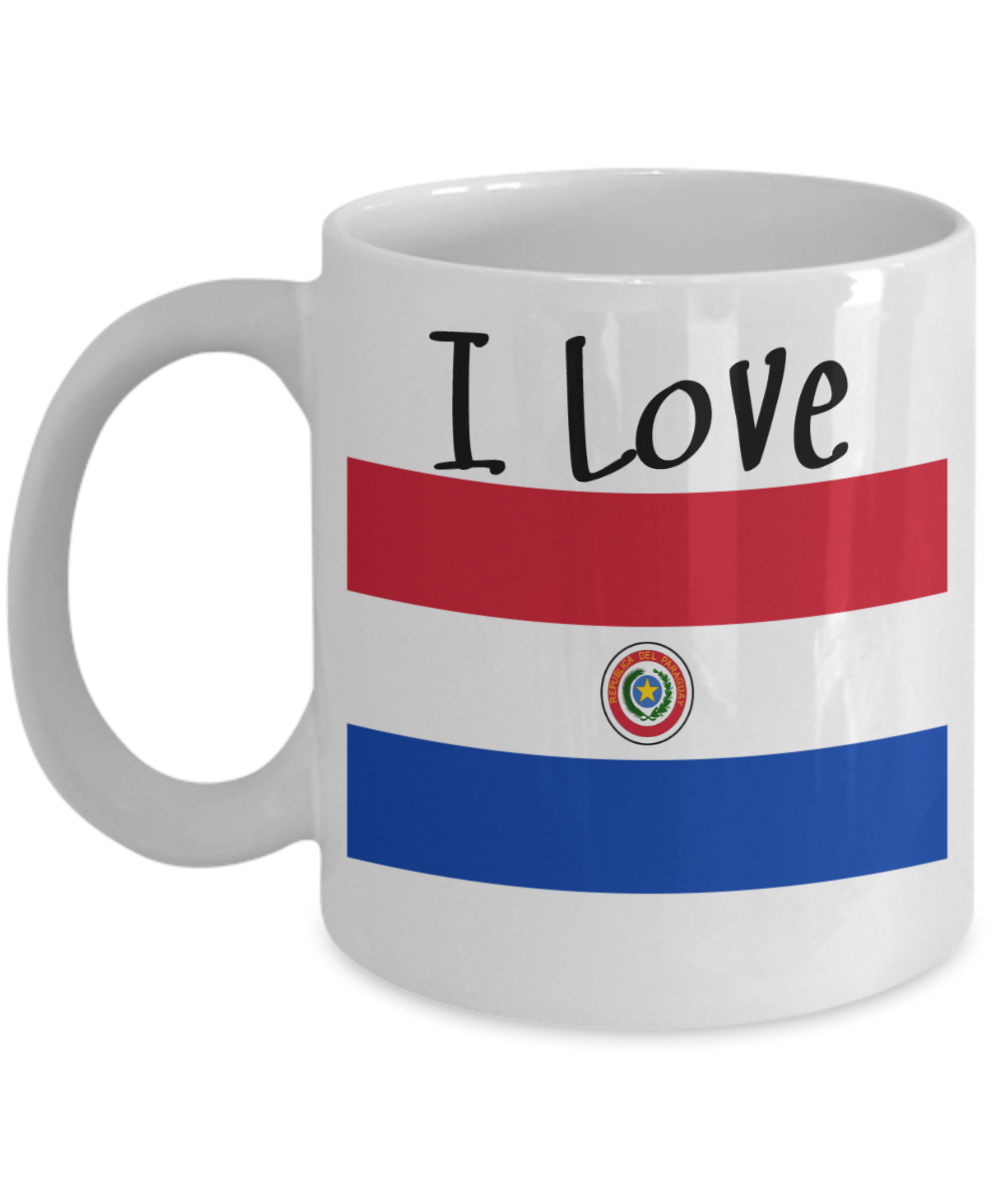 I love paraguay coffee mug with flag world flags pinterest i love paraguay coffee mug with flag buycottarizona