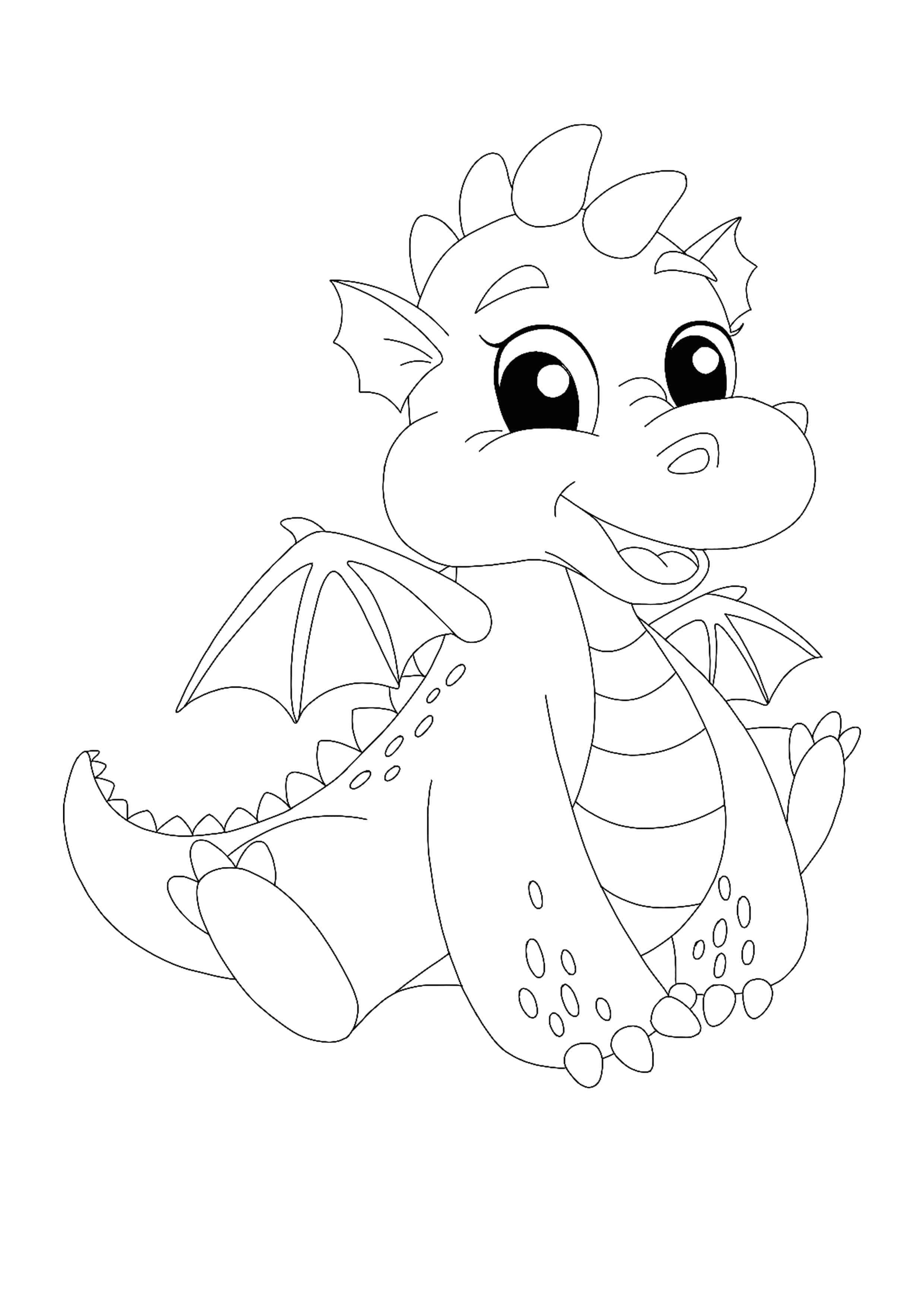 Cute Kawaii Dragon Coloring Page Dragon Coloring Pages Dragon Coloring Page Toy Story Coloring Pages