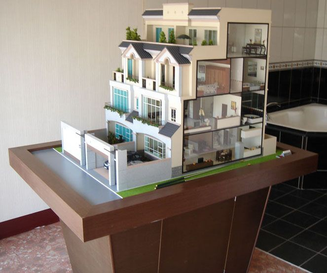Scale architectural model home buildings maker bing for 3d house maker