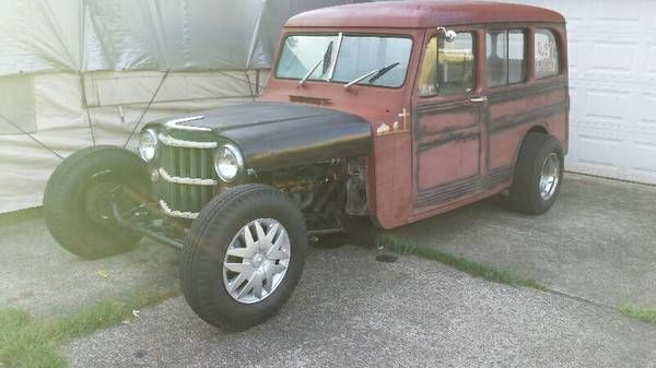 Willys Wagon Rat Rod Ebay Titled As A 1961 Willys Rat Rod