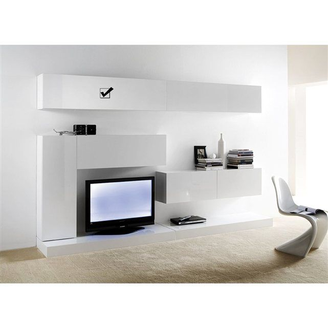 meuble tv mural horizontal down l achatdesign prix avis notation livraison meuble tv. Black Bedroom Furniture Sets. Home Design Ideas