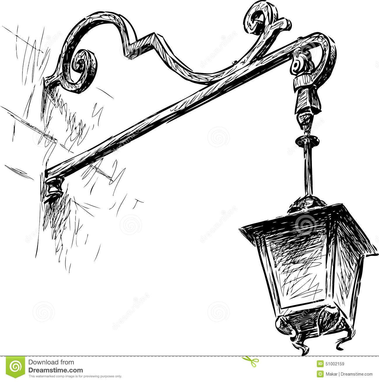 Draw A Street Lamp