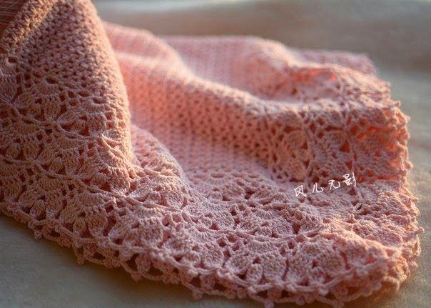 Mantilla para bebé tejida con ganchillo - con patrones | Crochet ...