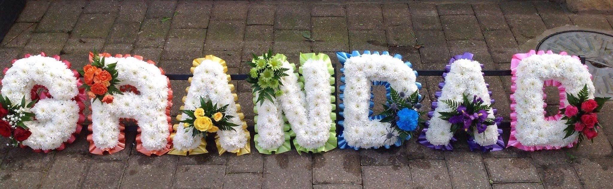 Rainbow grandad funeral flower tribute my work pinterest rainbow grandad funeral flower tribute izmirmasajfo